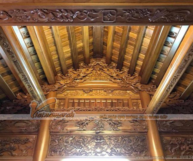 Chạm khắc thủ công trang trí nhà gỗ, nhà thờ họ