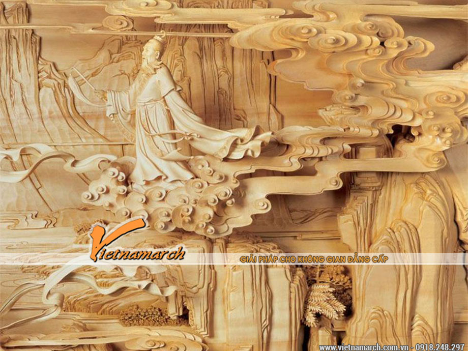 Chạm khắc thủ công nhà gỗ