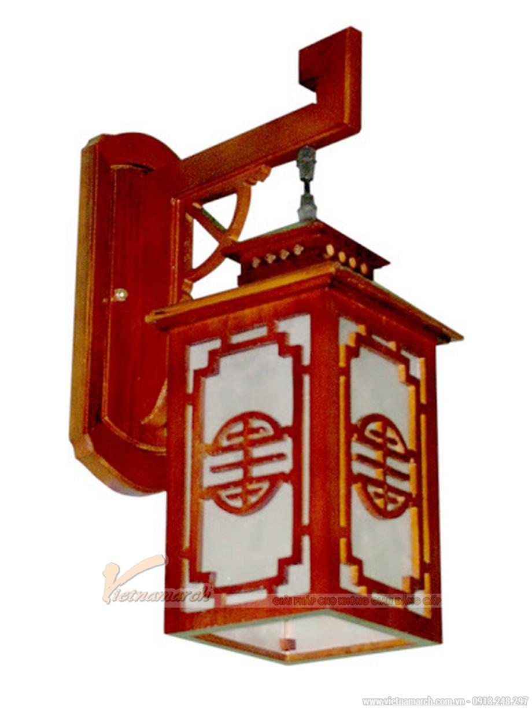 Mẫu đèn lồng trang trí từ đường bằng gỗ