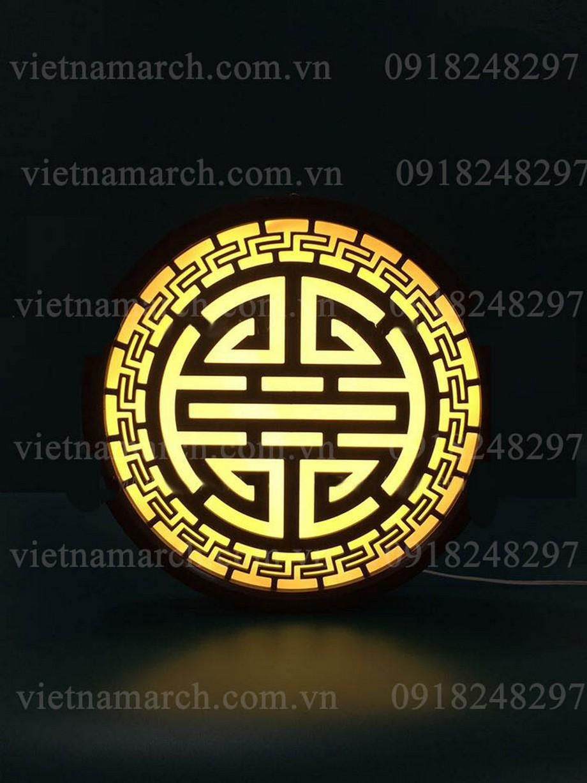 Mẫu đèn tranh gỗ ban thờ đẹp