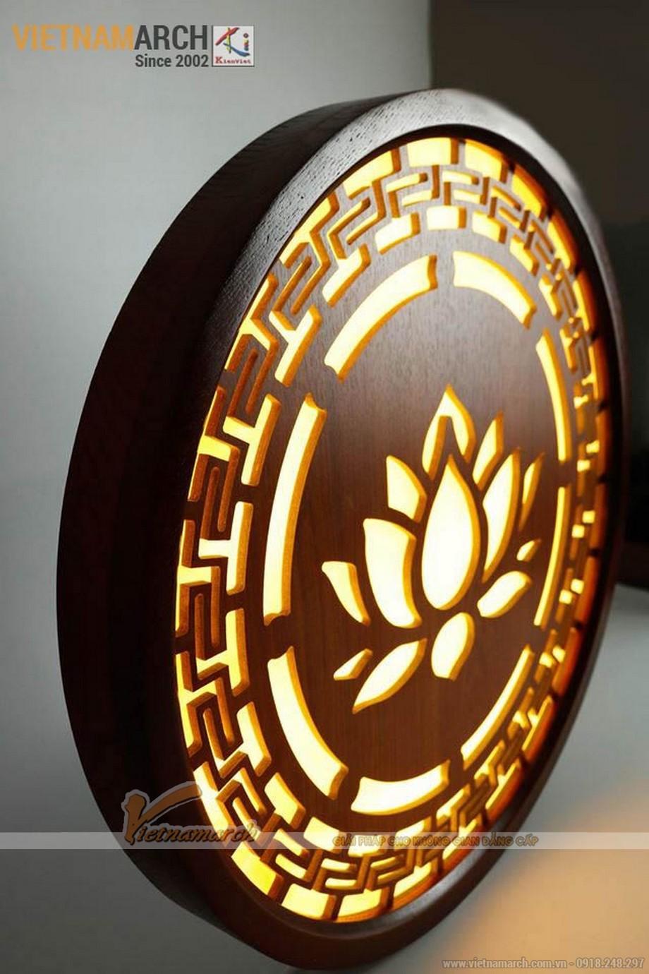 Mẫu đèn tranh gỗ phòng thờ đẹp