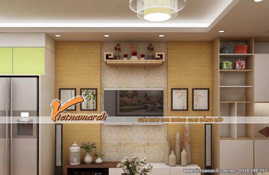 Bàn thờ treo tường - giải pháp cho những căn nhà chật