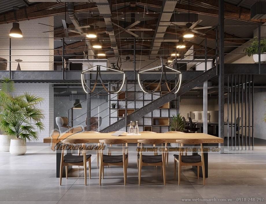 Không gian văn phòng công nghiệp