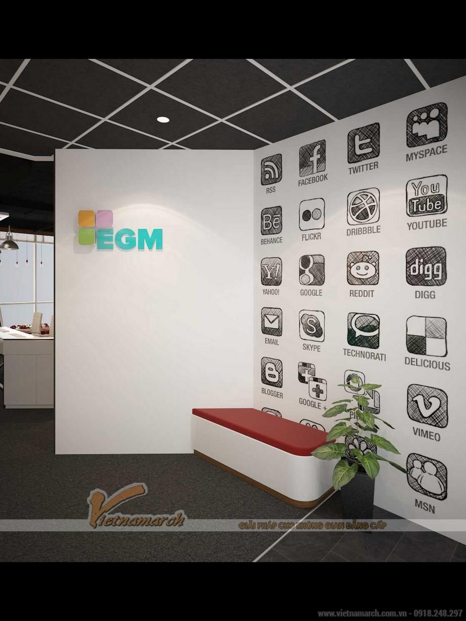 Không gian văn phòng công ty truyền thông, quảng cáo