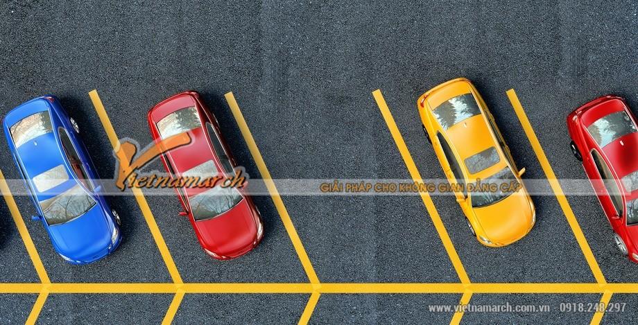 kích thước bãi đỗ xe