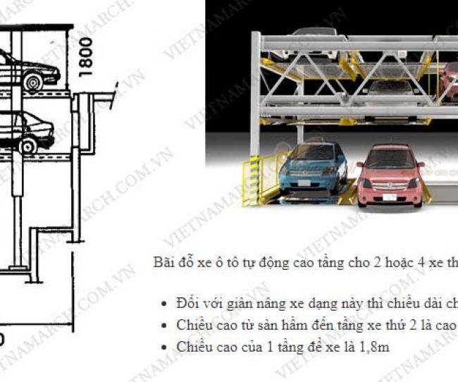 Tiêu chuẩn kích thước bãi đỗ xe tự động cao tầng