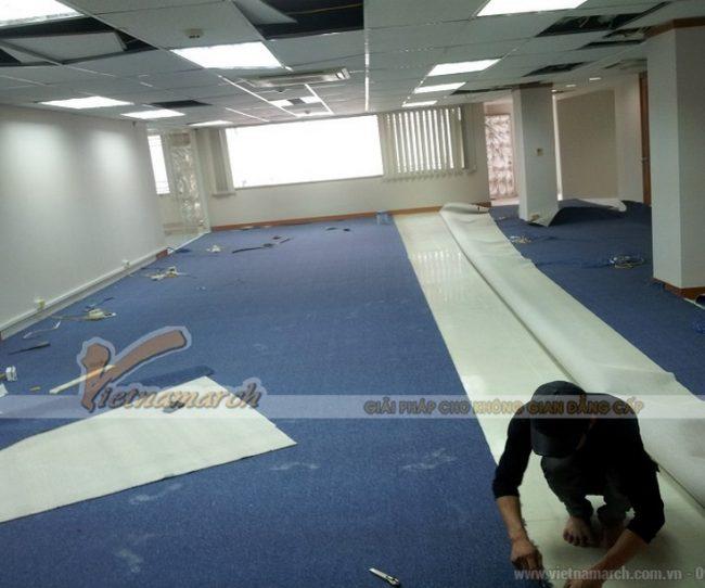 Lát thảm nhà là công đoạn quan trọng