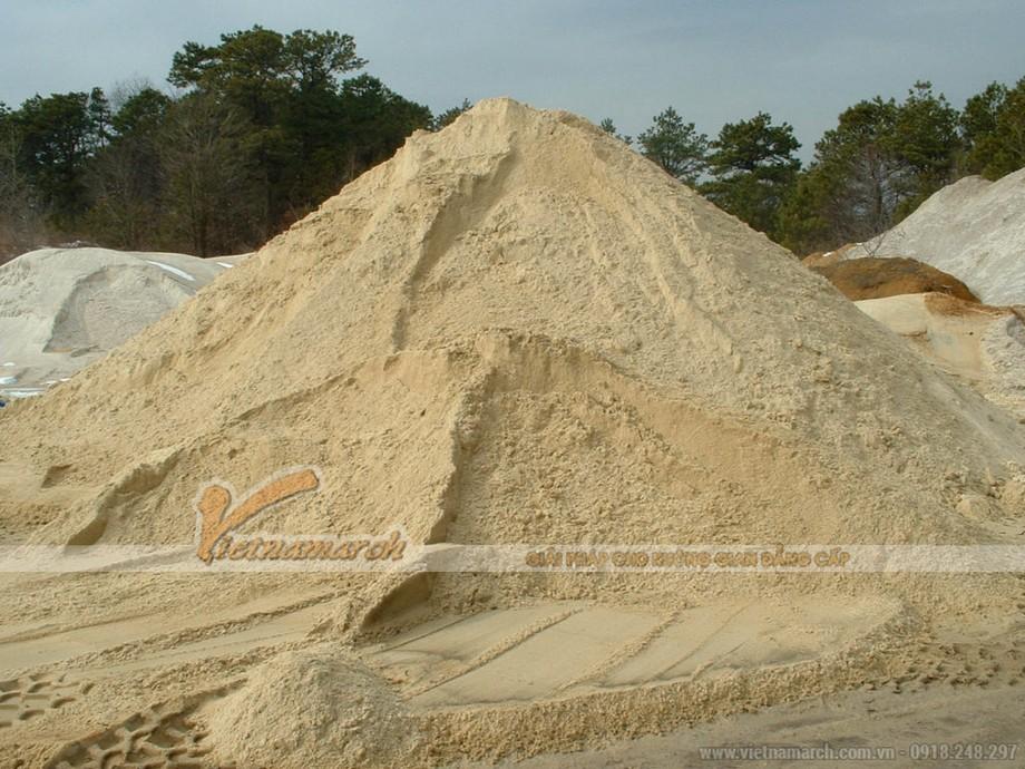 Lựa chọn cát xây dựng