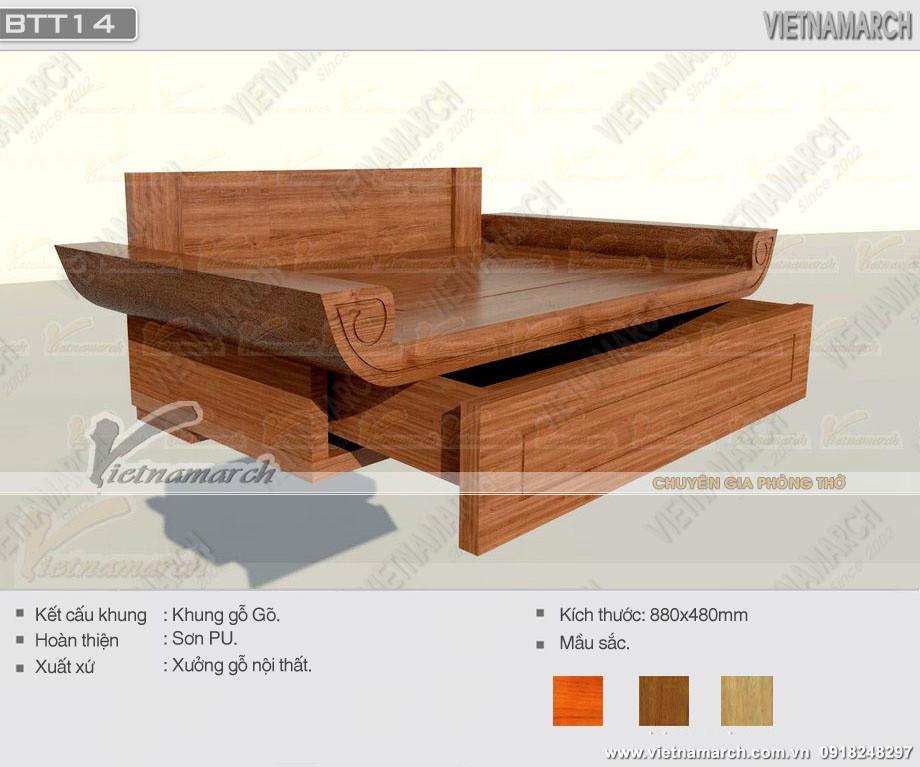 Mẫu bàn thờ treo cho chung cư