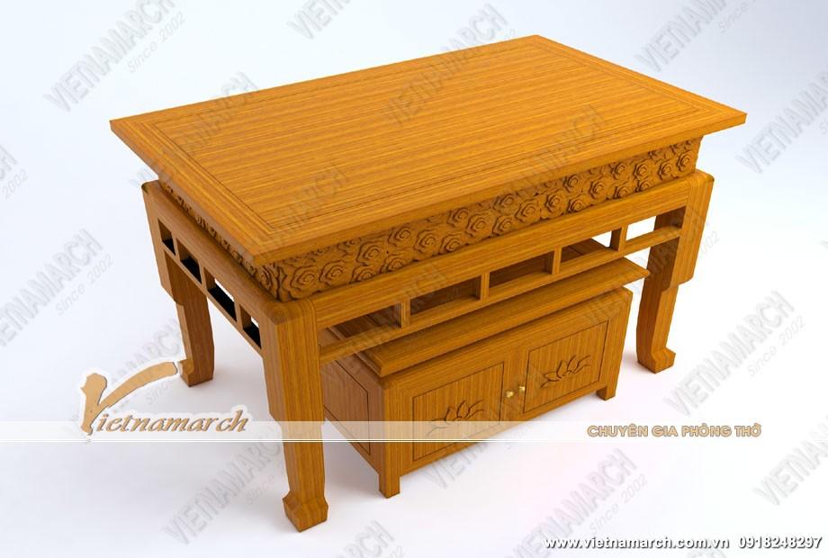 Mẫu bàn thờ đứng cho chung cư