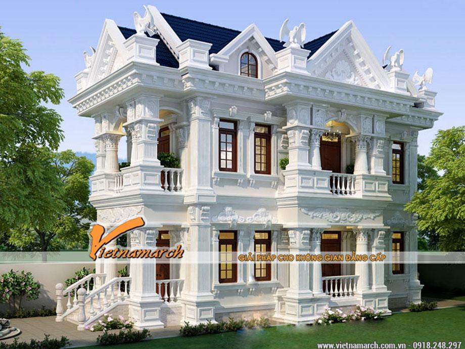 Thiết kế biệt thự sân vườn kiến trúc pháp