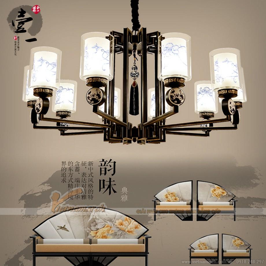 Đèn chùm trang trí nhà gỗ đẹp hiện đại và truyền thống
