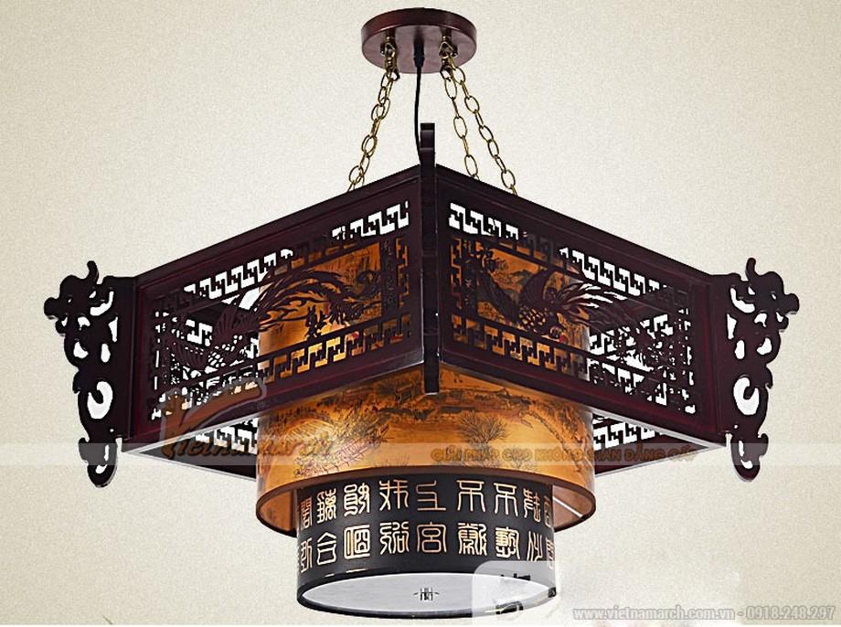 Đèn thả lụa trang trí nhà gỗ, nhà thờ họ