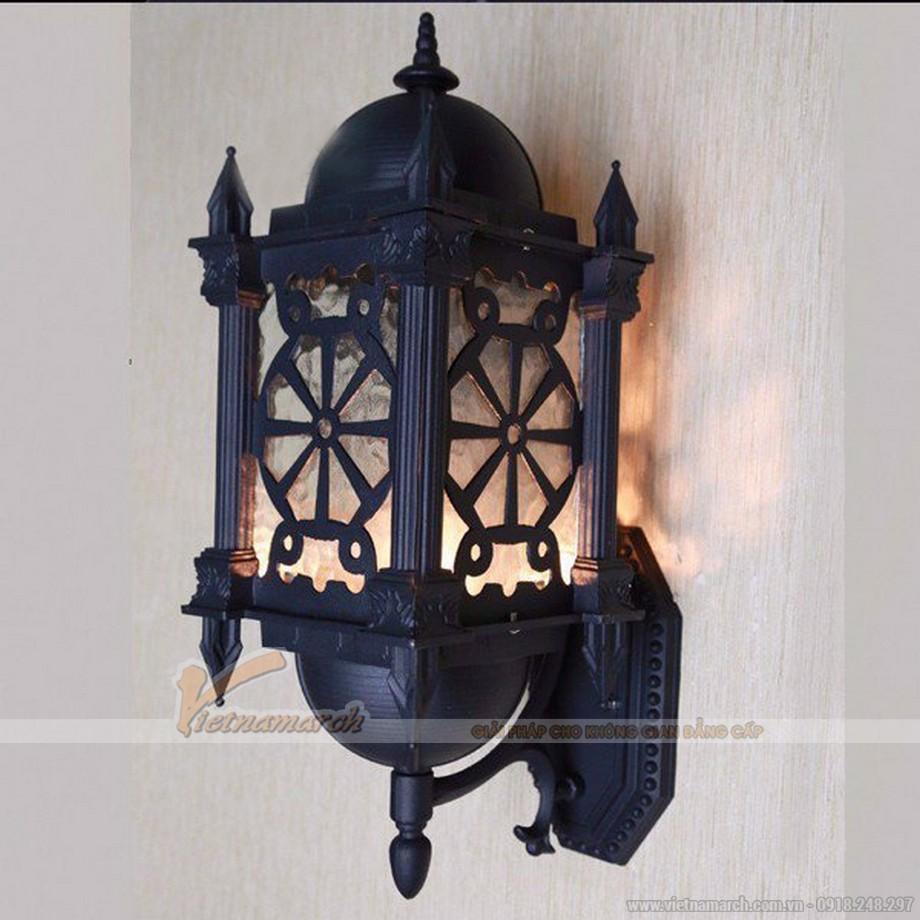 Mẫu đèn tường trang trí nhà gỗ, nhà từ đường