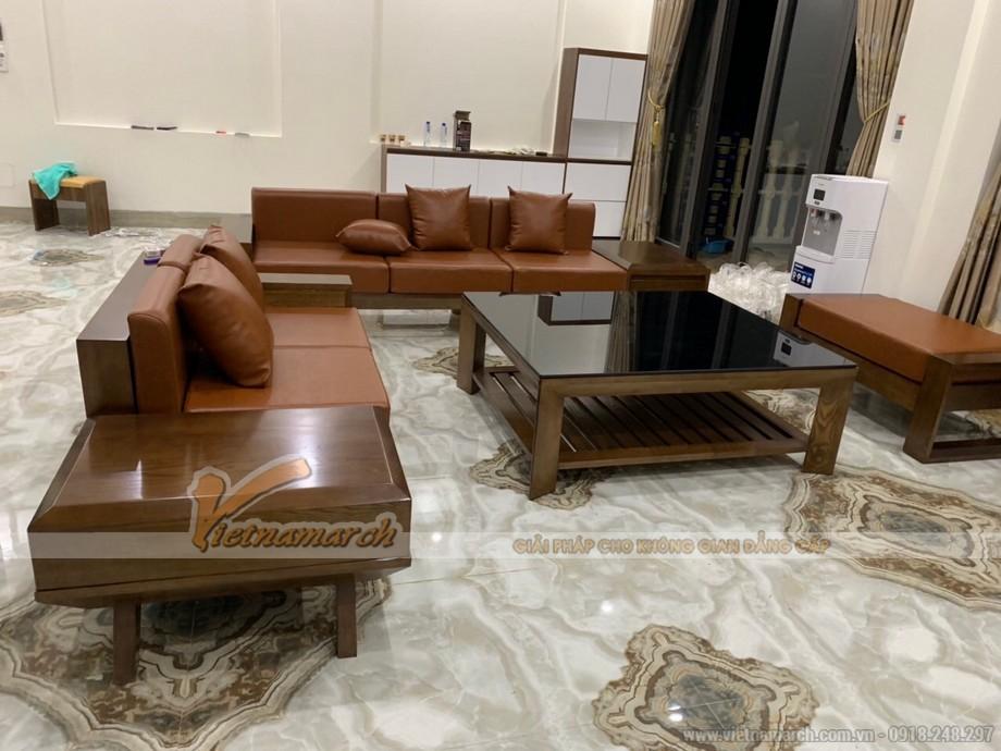 Mẫu sofa gỗ sồi SF06