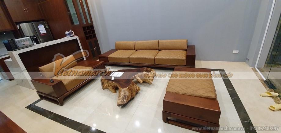 Mẫu sofa gỗ sồi SF08