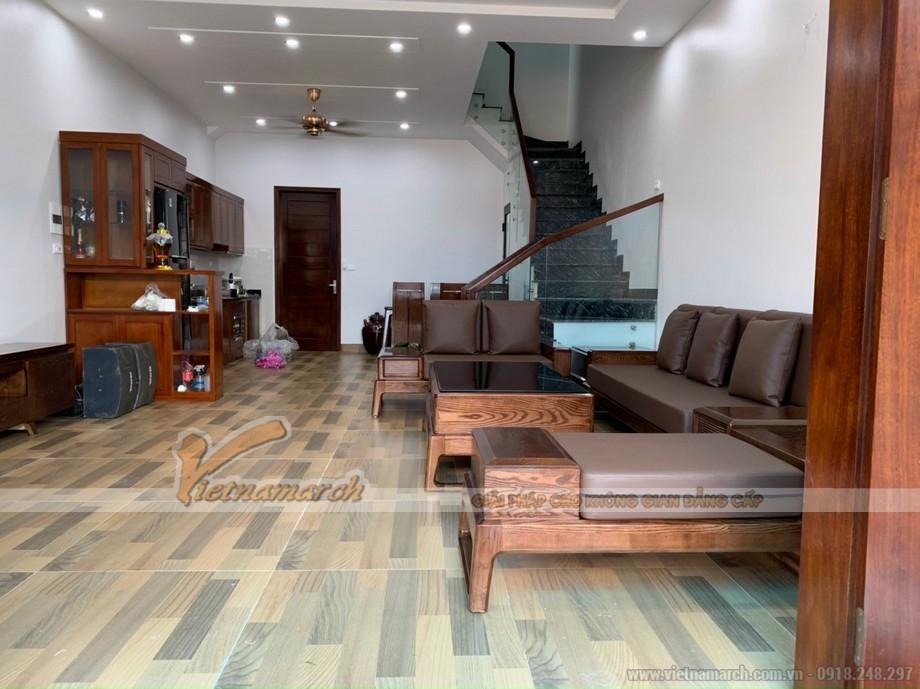 Mẫu sofa gỗ sồi đẹp