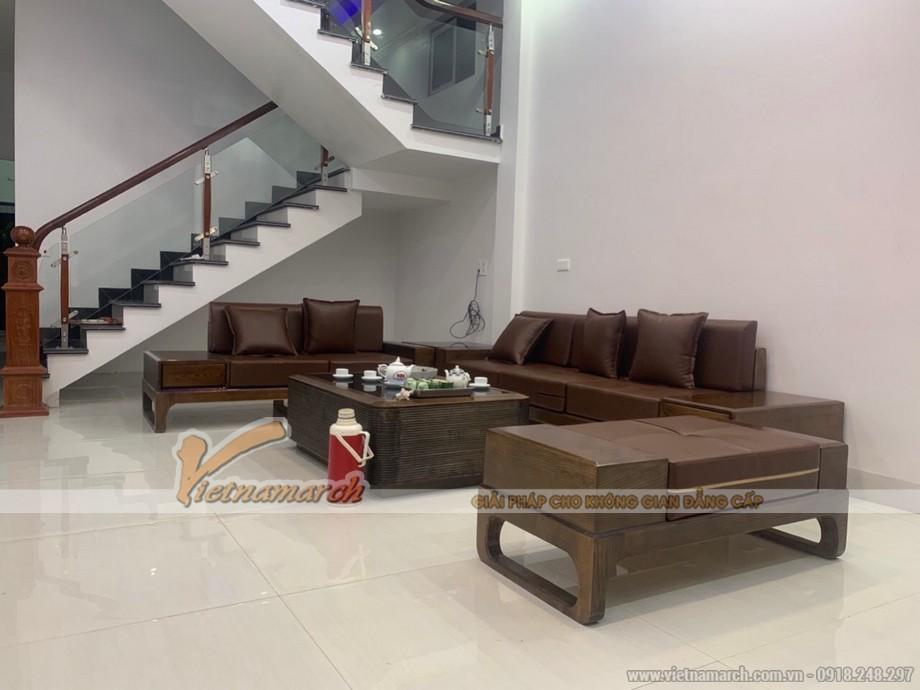 Mẫu sofa gỗ sồi giá rẻ