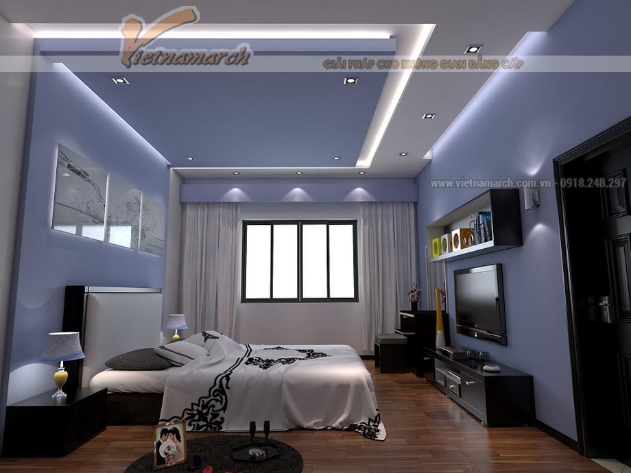 Mẫu trần thạch cao chữ L cho không gian phòng ngủ