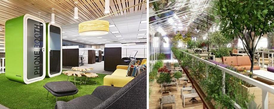 Cách thiết kế sân vườn văn phòng đẹp