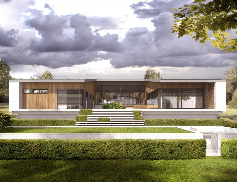 Nhà 1 tầng chiều ngang rộng giúp phân tách không gian dễ dàng