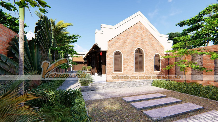 Mẫu thiết kế nhà thờ họ kết hợp nhà ngang tại Nha Trang