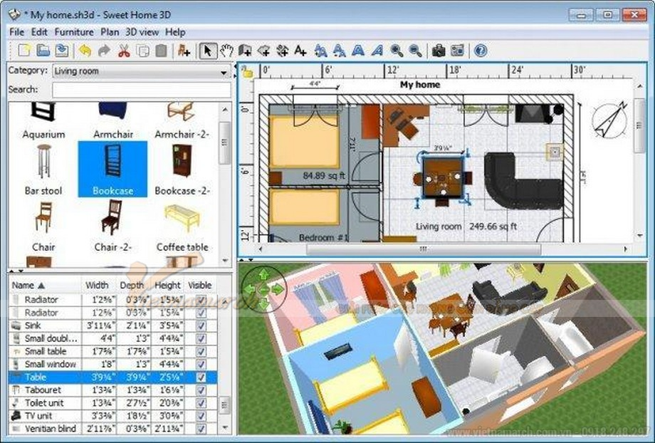 Phần mềm thiết kế nội thất DesignCAD 3D Max