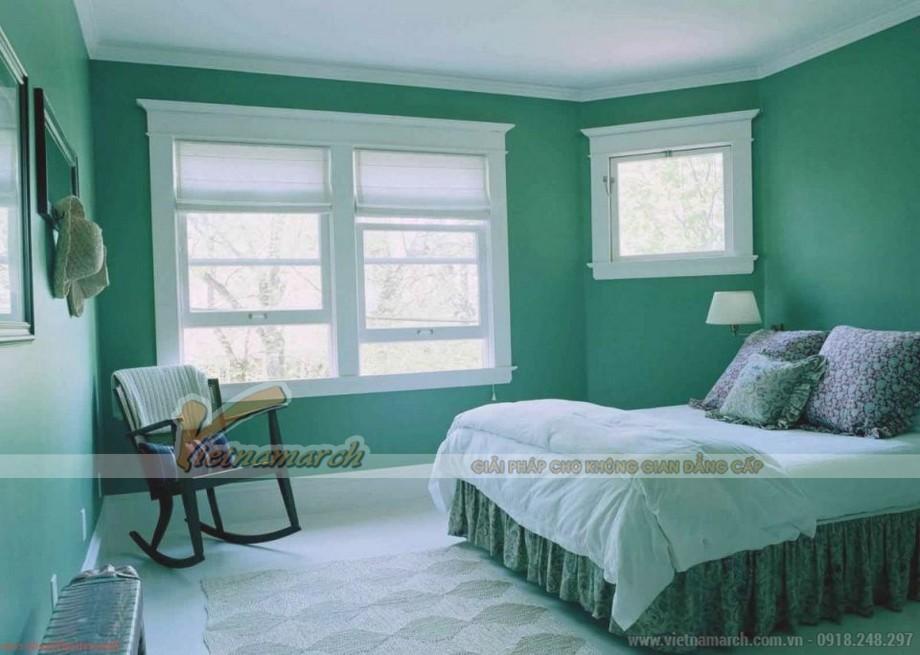 Mẫu sơn trần nhà đẹp với màu xanh ngọc