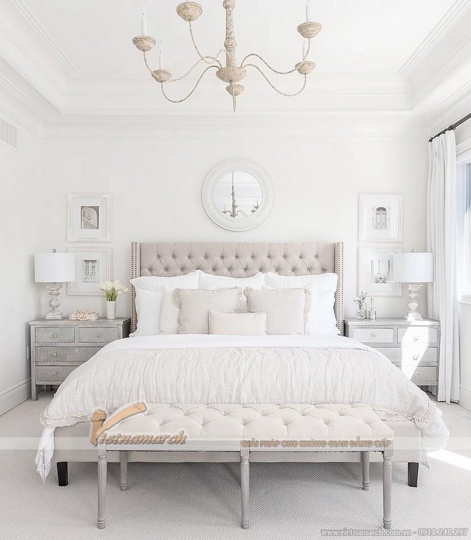 Mẫu sơn trần nhà đẹp với màu trắng