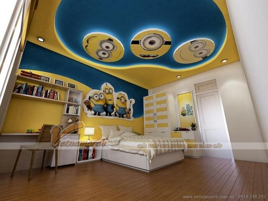 Phối màu sơn trần nhà với màu xanh đại dương