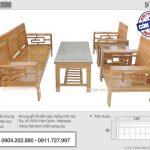 Top 15+ Mẫu bàn ghế Sofa gỗ sồi hiện đại giá rẻ nhất 2020