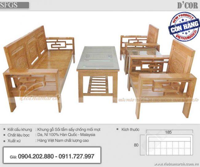 Mẫu bàn ghế Sofa gỗ sồi hiện đại giá rẻ nhất