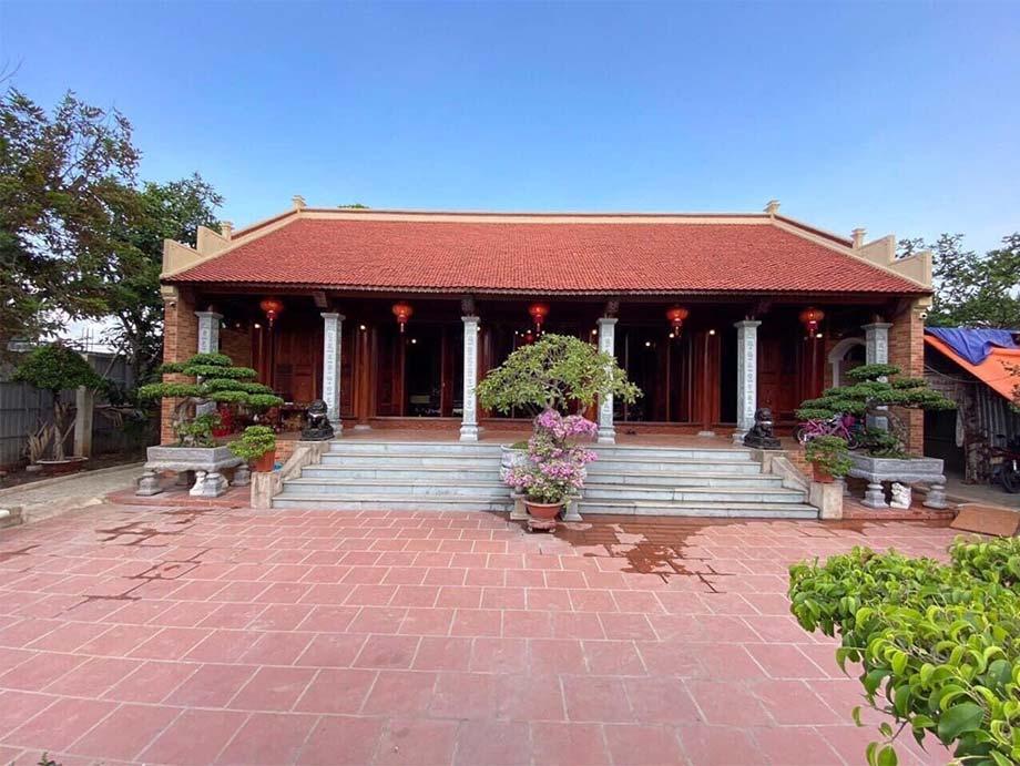 Mẫu nhà tổ 5 gian chuẩn kiến trúc truyền thống