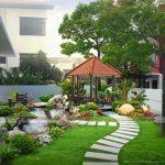 Thiết kế biệt thự sân vườn 500m2 hợp phong cách và thời đại