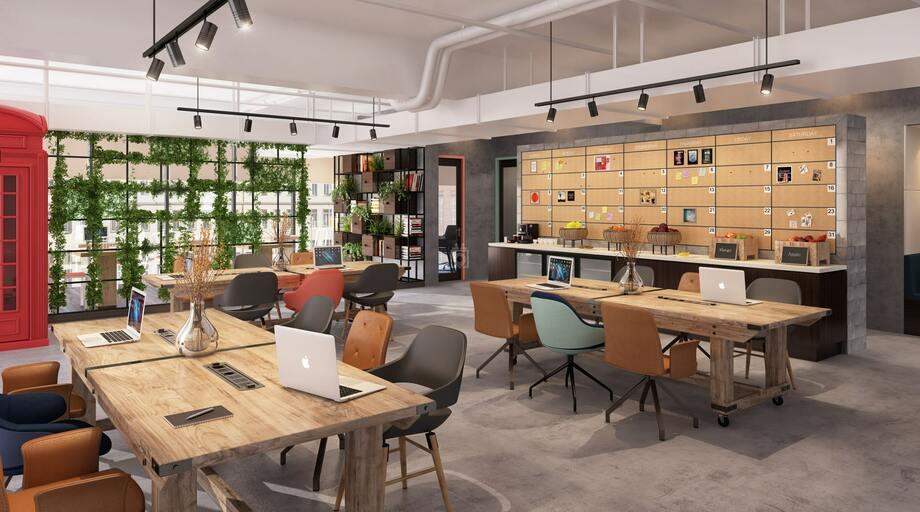 Không gian chia sẻ mang phong cách hiện đại kết hợp không gian quán cà phê