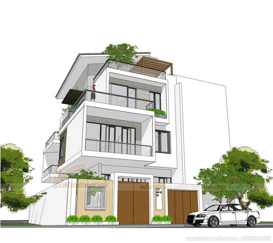 Mẫu thiết kế nhà phố có bể bơi đẹp tại Hà Nội