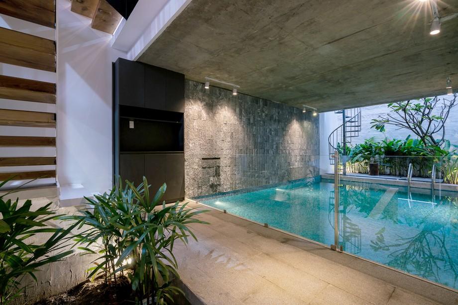Thiết kế hồ bơi mini trong nhà phố 70m2 tại Sài Gòn