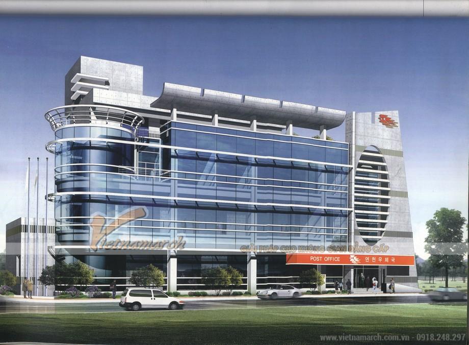 Mẫu thiết kế cao ốc văn phòng đẹp
