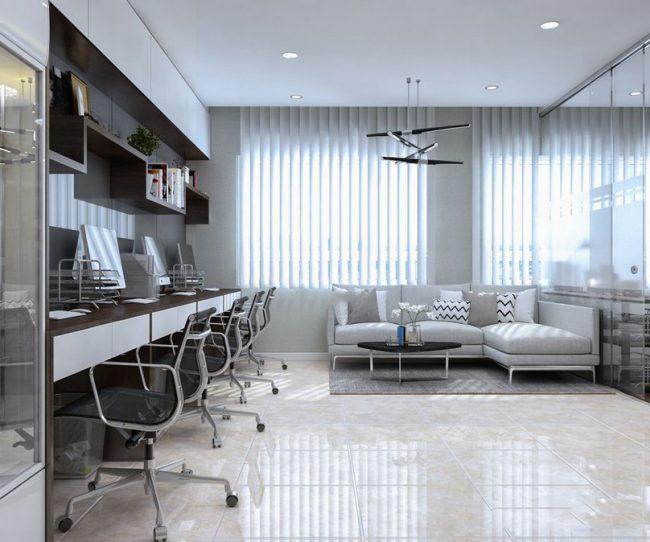 Thiết kế văn phòng kết hợp nhà ở đẹp