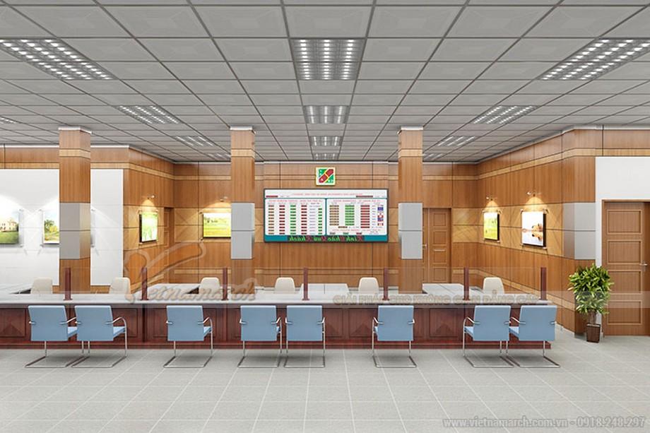 Mẫu thiết kế văn phòng giao dịch ngân hàng Agribank