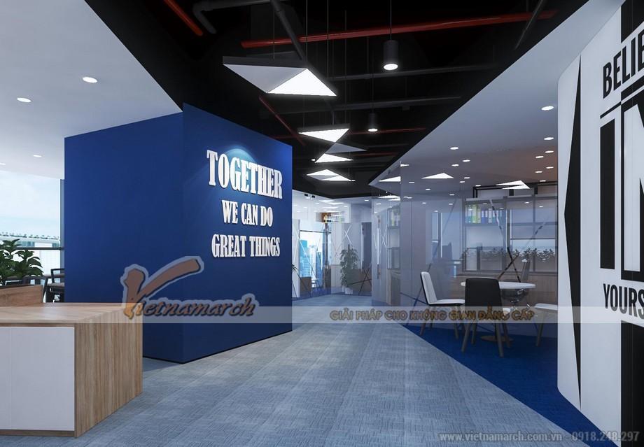Bản vẽ thiết kế 3D văn phòng GNG media