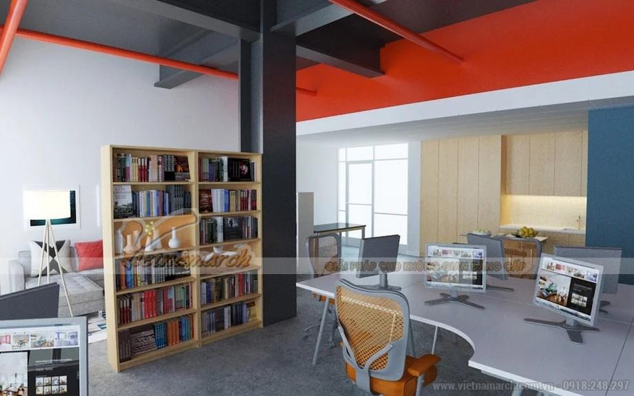Phương án thiết kế văn phòng kinh doanh online với diện tích 80m2