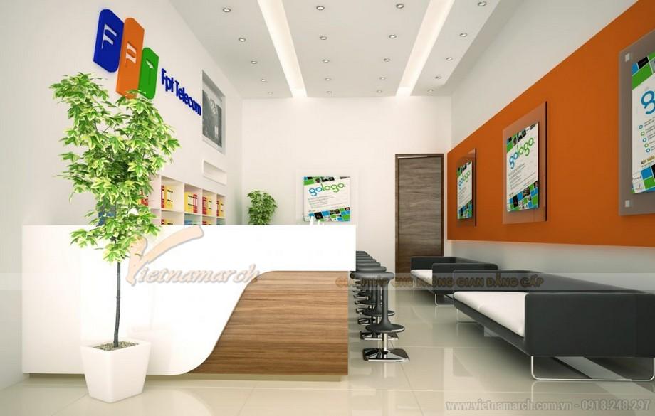 Mẫu thiết kế văn phòng giao dịch công ty viễn thông
