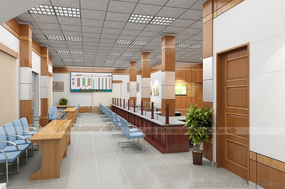 Mẫu thiết kế văn phòng giao dịch ngân hàng