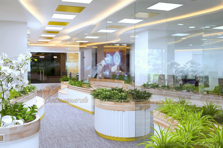 Mẫu thiết kế văn phòng giao dịch bất động sản