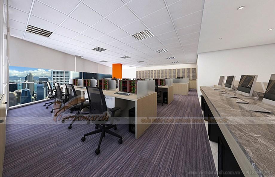 Mẫu thiết kế văn phòng giao dịch chứng khoáng