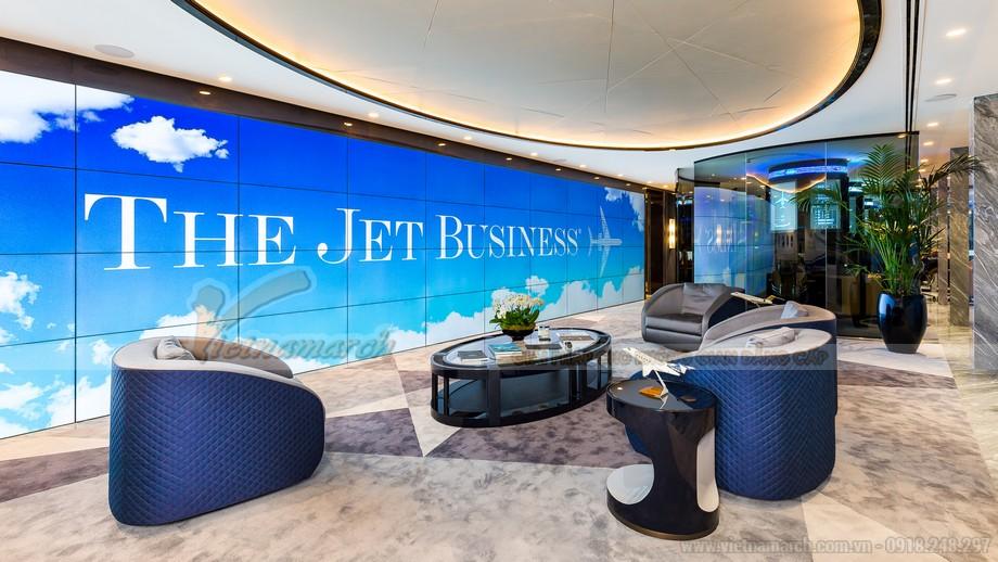 Mẫu thiết kế văn phòng giao dịch vé máy bay