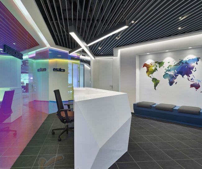 mẫu thiết kế khu lễ tân văn phòng
