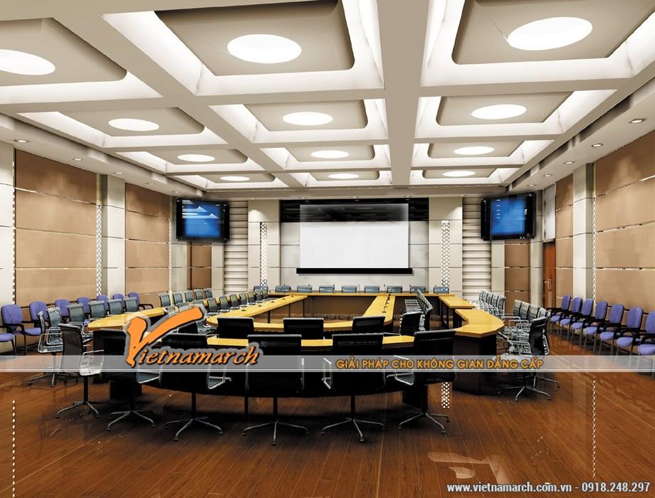 Trần thạch cao tạo kiểu văn phòng họp