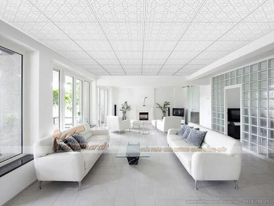 Trần thạch cao để bảo vệ trần phòng khách nhà bạn khỏi bụi bẩn và tiếng ồn